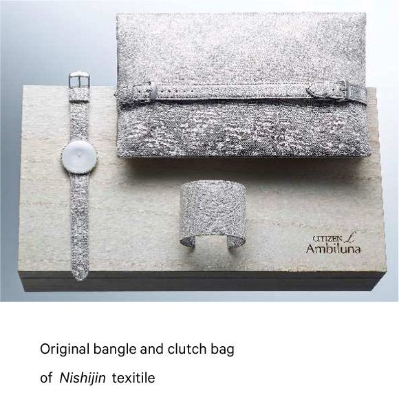 Original bangle and clutch bag of Nishijin texitile